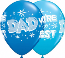 Dad You're The Best (Assortment) - 11 Inch Balloons 25pcs